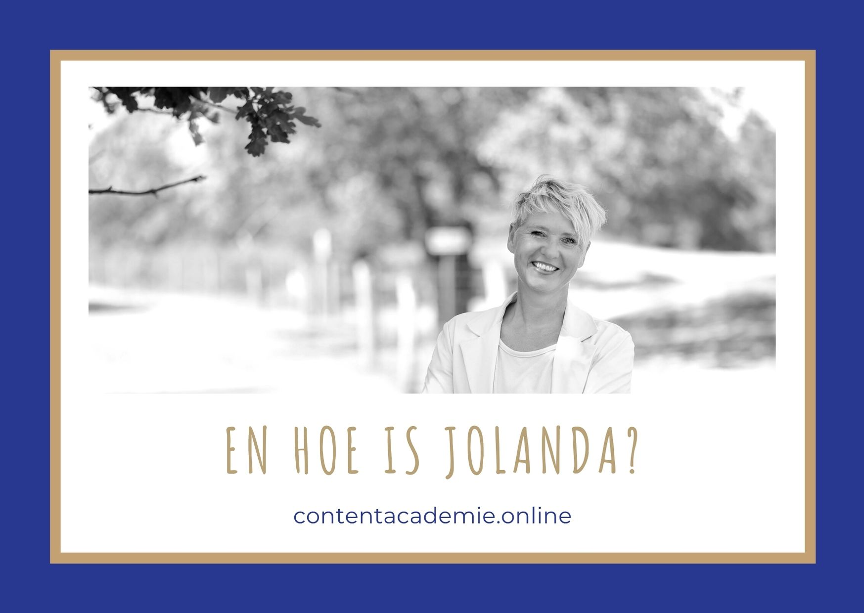 Hoe content is Jolanda Damsma