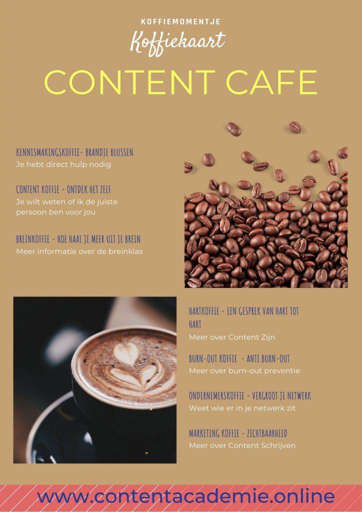 koffiekaart Content Cafe
