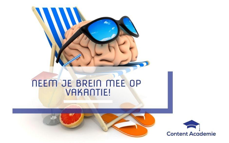 Neem je brein mee op vakantie